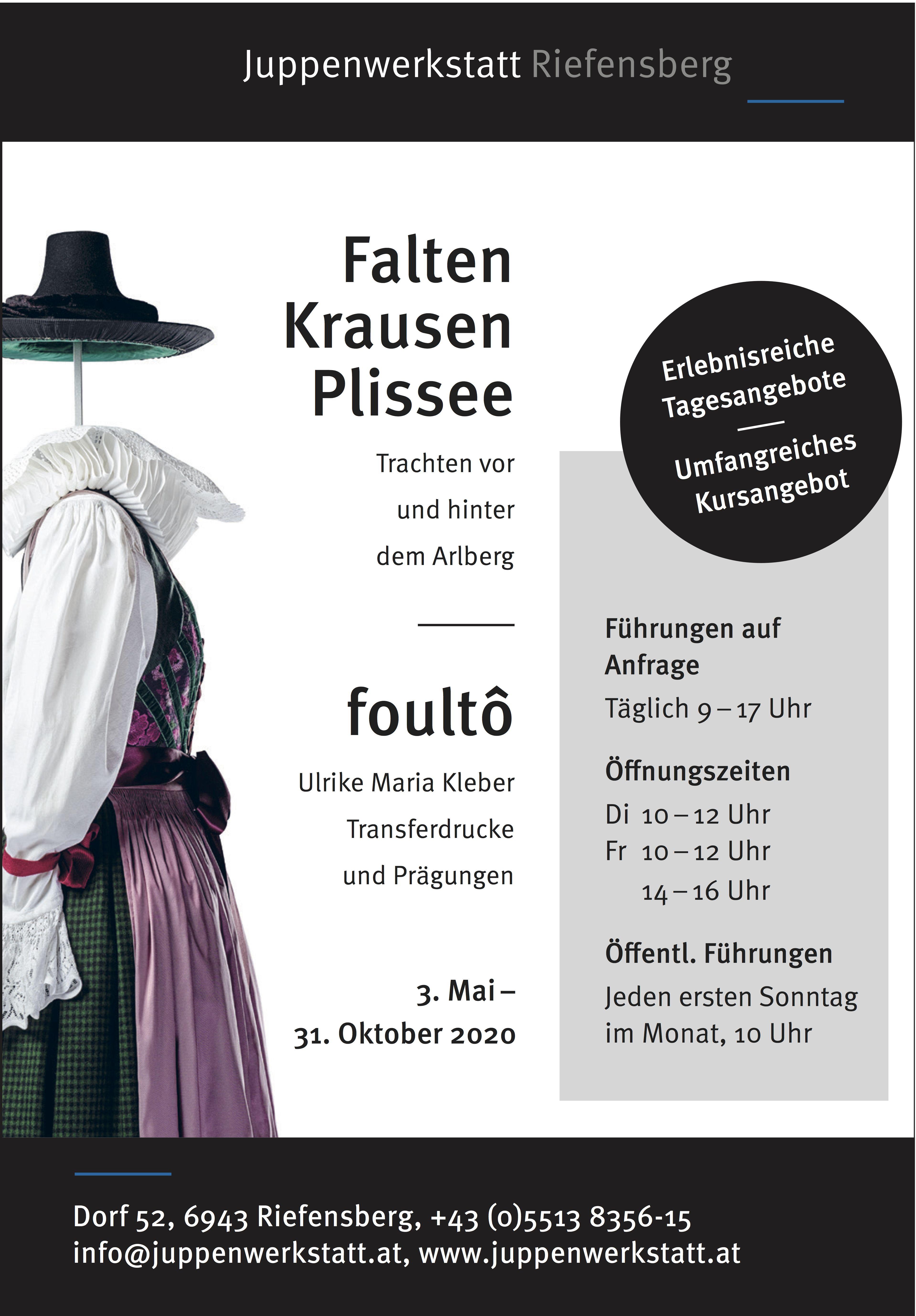 Ausstellung Falten, Krausen, Plissee